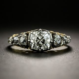 Late-Georgian .75 Carat Diamond Engagement Ring - 1