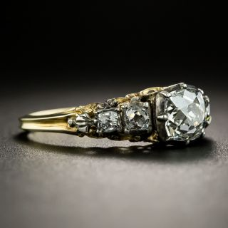 Late-Georgian .75 Carat Diamond Engagement Ring