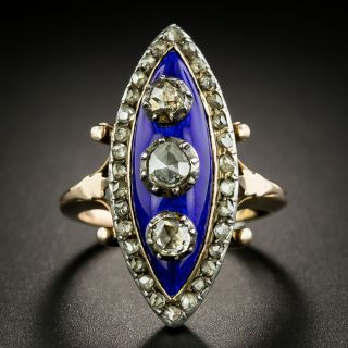 Late Georgian/Early Victorian Diamond and Enamel Ring - 2