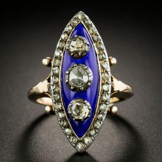 Late Georgian/Early Victorian Diamond and Enamel Ring - 2