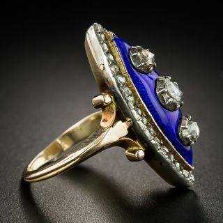 Late Georgian/Early Victorian Diamond and Enamel Ring