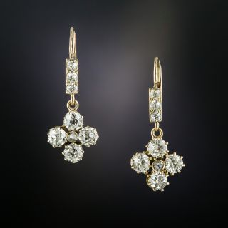 Late Victorian Diamond Drop Earrings - 2