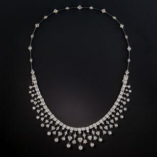 Late-Victorian Diamond Fringe Necklace