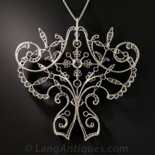 Late Victorian / Early Edwardian Diamond Pendant Necklace