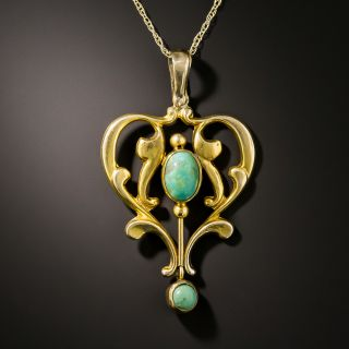 Late Victorian English Turquoise Necklace - 3