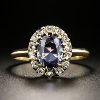 Late-Victorian No-Heat Purple Sapphire and Diamond Ring - 4