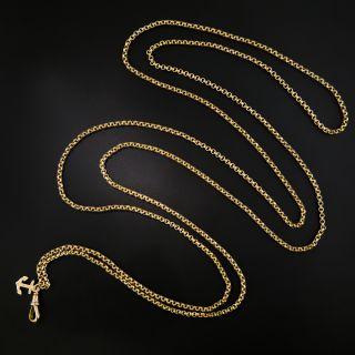 Long 9 Ct. English Victorian Chain