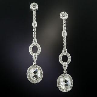 Long Rose-Cut Diamond Drop Earrings - 3