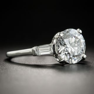 3.04 Carat Round Brilliant Cut Solitaire Diamond Ring - GIA D VVS2