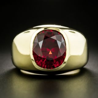 Magnificent 10.00 Carat Natural Red Spinel Gent's Ring - 1
