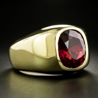Magnificent 10.00 Carat Natural Red Spinel Gent's Ring