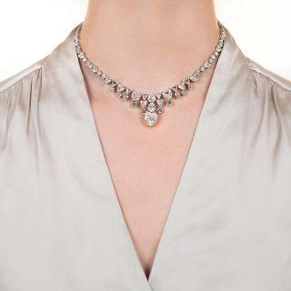 Magnificent Platinum and Diamond Necklace