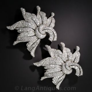 Magnificent Platinum Diamond Diamond Clips  - 1