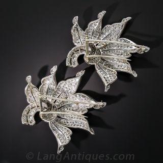 Magnificent Platinum Diamond Diamond Clips