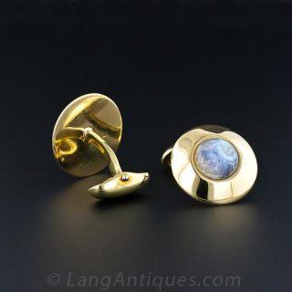 Man-in-the-Moonstone Cufflinks