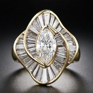 Marquise Diamond Ballerina Ring - 1