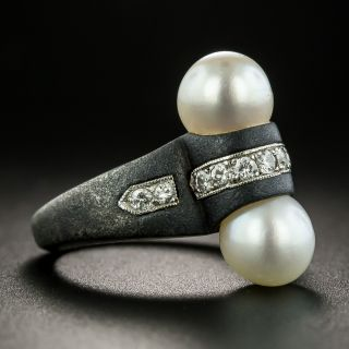 Marsh & Co. Pearl and Diamond Ring