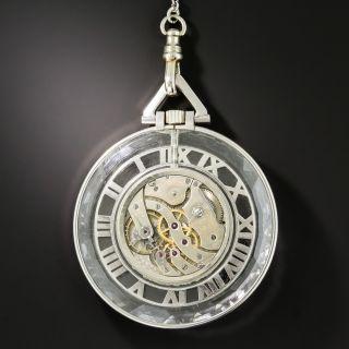 Mauboussin Art Deco Rock Crystal and Diamond Skeleton Watch
