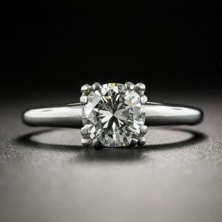 Mid-20th Century 1.00 Carat Diamond Solitaire Engagement Ring - GIA J VS1 - 2