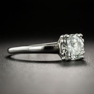 Mid-20th Century 1.00 Carat Diamond Solitaire Engagement Ring - GIA J VS1