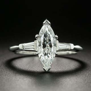 Mid-20th Century 1.00 Carat Marquise Diamond Ring - GIA F VS1 - 1