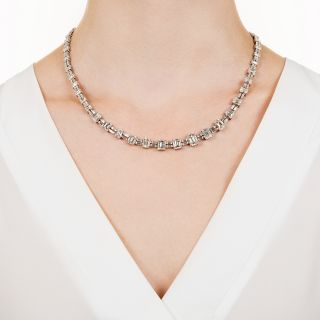 Mid-20th Century Emerald-Cut Diamond Necklace - 33.00 Carats (GIA)