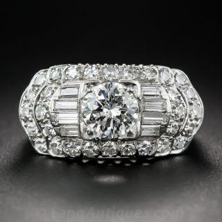 Mid-Century 1.05 Carat Diamond Engagement Ring by Granat Brothers - 1