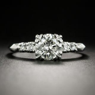 Mid-Century 1.14 Carat Diamond Engagement Ring - GIA J SI2 - 1