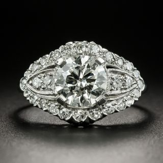 Mid-Century 1.16 Carat Diamond Engagement Ring - GIA J SI2 - 2