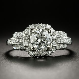 Mid-Century 1.17 Carat Diamond Engagement Ring - GIA G VVS1 - 2