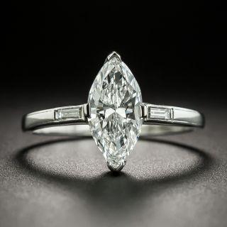 Mid-Century 1.27 Carat Marquise Diamond Engagement Ring, GIA D VS1 - 2