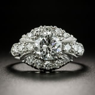 Mid-Century 1.34 Carat Diamond Engagement Ring - GIA F SI1 - 2