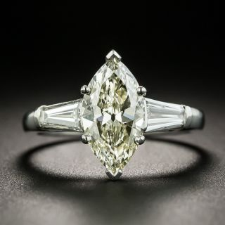 Mid-Century 1.58 Carat Marquise-Cut Diamond Engagement Ring - GIA - 2