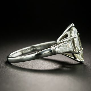 Mid-Century 1.58 Carat Marquise-Cut Diamond Engagement Ring - GIA