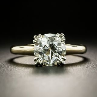 Mid-Century 1.62 Carat Diamond Solitaire Ring - GIA J VS1 - 3