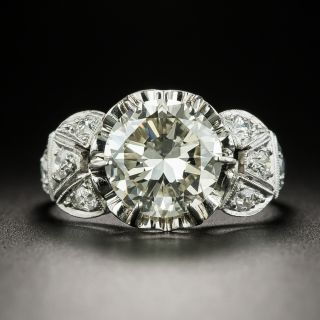 Mid-Century 2.40 Carat Diamond Engagement Ring - GIA N VVS2 - 2
