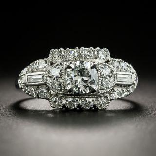 Mid-Century .38 Carat Diamond Engagement Ring - 2