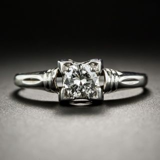 Mid-Century .40 Carat Diamond Engagement Ring by Schuman and Donchi