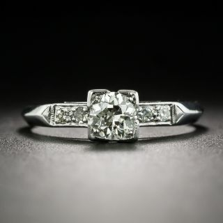 Mid-Century .40 Carat Diamond Engagement Ring - 2
