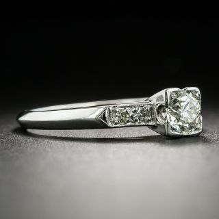 Mid-Century .40 Carat Diamond Engagement Ring