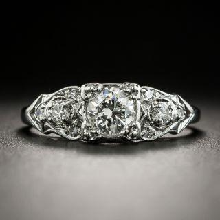 Mid-Century .51 Carat Diamond Engagement Ring  - 1