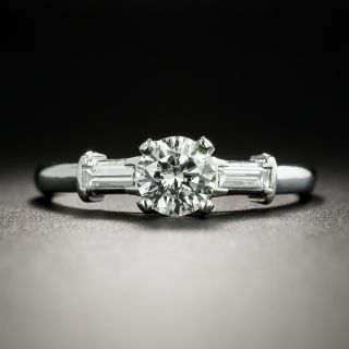 Mid Century .58 Carat Diamond Engagement Ring - 2