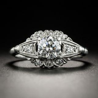Mid-Century .60 Carat Diamond Platinum Engagement Ring - 1