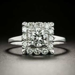 Mid-Century .61 Carat Diamond Engagement Ring - 3