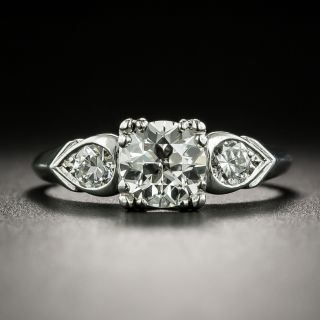 Mid-Century .72 Carat Diamond Engagement Ring by Loretz and Benoit - 2