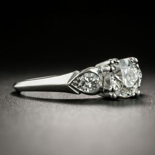 Mid-Century .72 Carat Diamond Engagement Ring by Loretz and Benoit