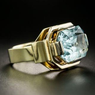 Mid-Century 8.00 Carat Aquamarine Ring
