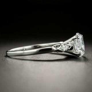 Mid-Century .85 Carat Oval-Cut Diamond Engagement Ring - GIA E VS2