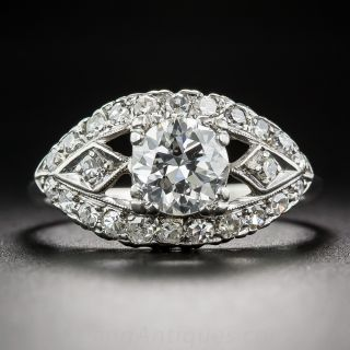.90 Carat Vintage Diamond Engagement Ring, Circa 1950's - 1