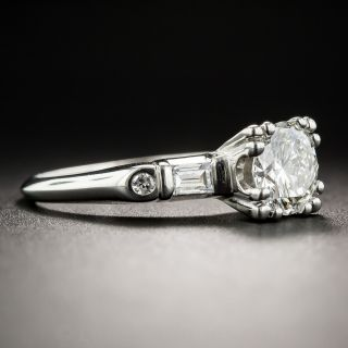 Mid-Century .96 Carat Diamond Engagement Ring - GIA G VS1